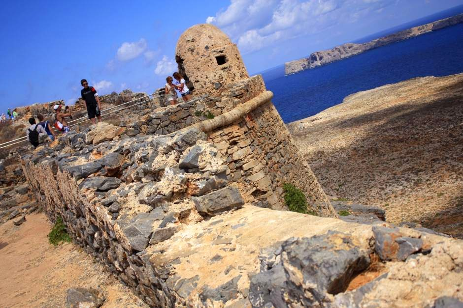 Castle of Gramvoussa in Crete