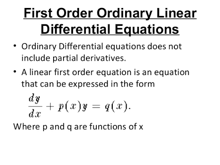 ORDINARY DIFFERENTIAL EQUATIONS OF THE FIRST ORDER AND THE FIRST DEGREE LECTURE VIDEO