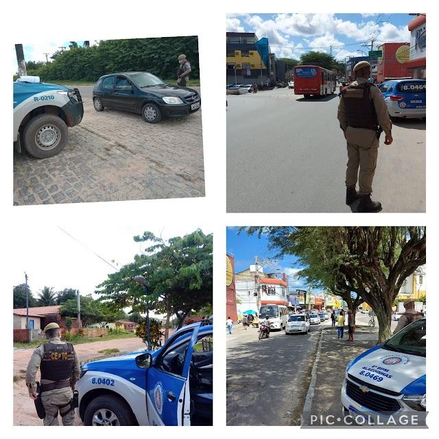 Policiais do 4° BPM realizam rondas e abordagens em Alagoinhas