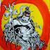 Rudra- Lord Shiva painting(Art) in the Shiva Series