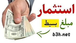 استثمار مبلغ بسيط من المال