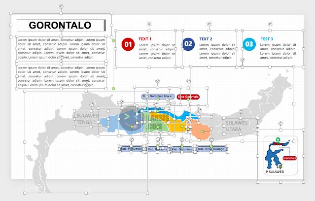 Peta Gorontalo untuk Powerpoint
