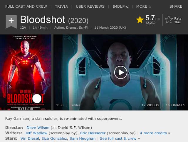 Download Bloodshot (2020) Dual Audio (Hindi-English) BluRay 480p [330MB]    720p [1.1GB]    1080p [3.6GB]