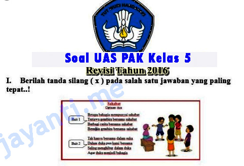 Soal UAS PAK Kelas 5