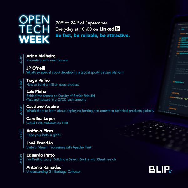 BLIP promove desafios tecnológicos e de inovação na 'Open Tech Week'
