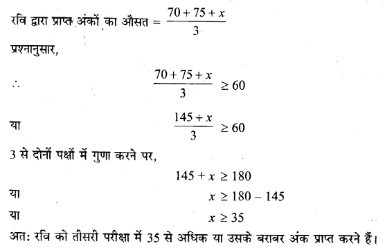 Solutions Class 11 गणित-I Chapter-6 (रैखिक असमिकाएँ)
