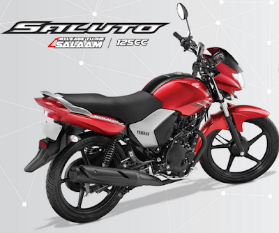 Yamaha Saluto 125cc back view picture