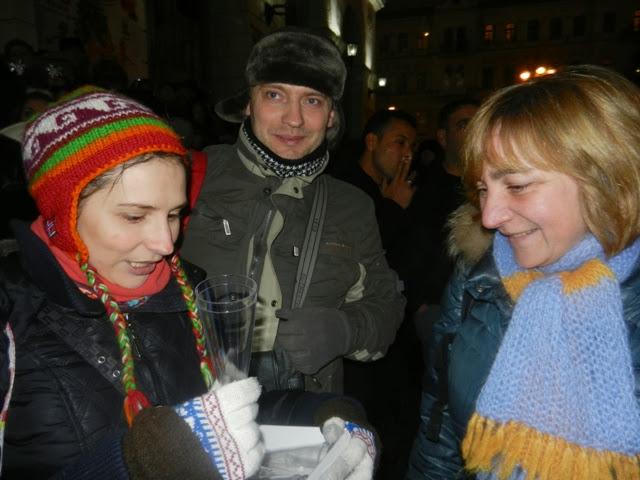 Евромайдан празднует Новый год