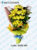 jual hand bouquet bunga krisan 200rb free ongkir ke jogjakarta