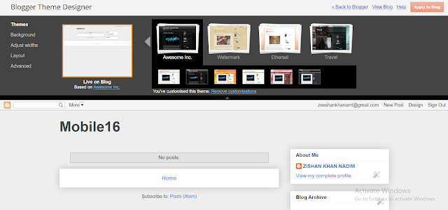 How to customize blogger theme