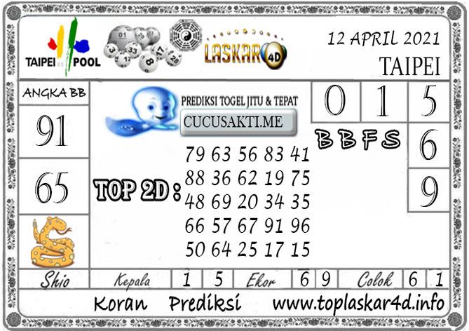 Prediksi Togel TAIPEI LASKAR4D 12 APRIL 2021