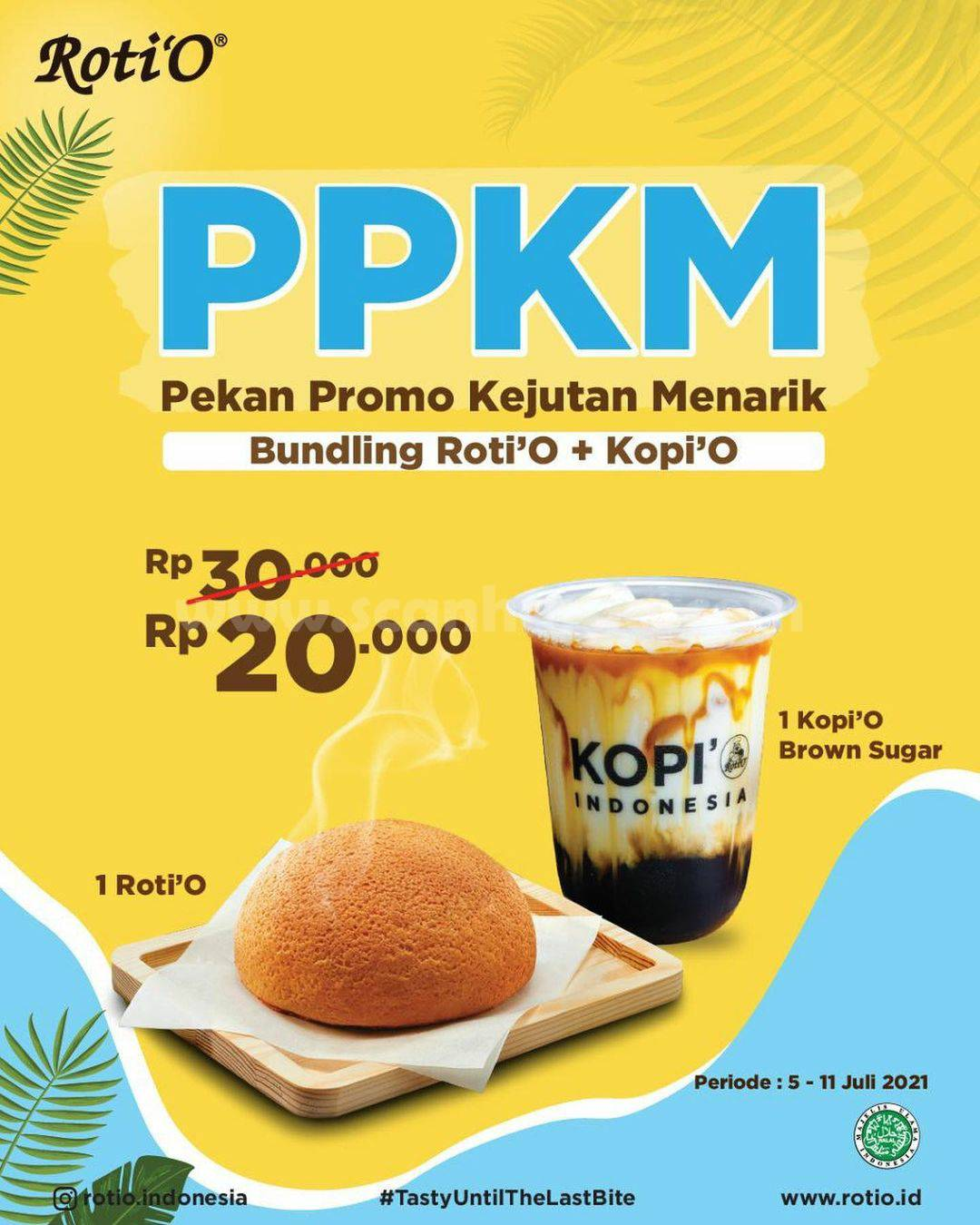 Promo Roti O PPKM (Pekan Promo Kejutan Menarik) Gratis Roti'O