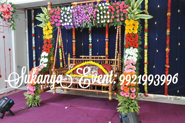 Dohale jevan best decoration from sukanya event dohale for Baby palna decoration
