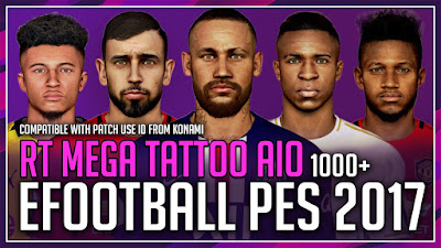 PES 2017 Mega Tattoo Pack AIO 2020 by Rean Tech [ +1000 ]