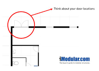 Door locations are important for modular buildings so design accordingly