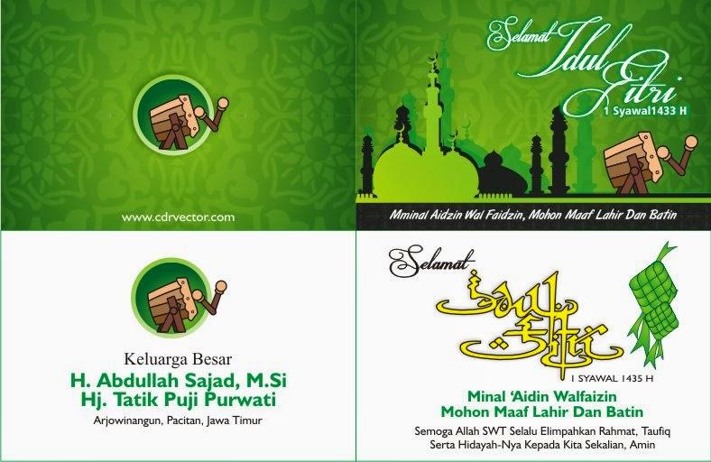 Desain Kartu Ucapan Selamat Hari Raya Idul Fitri - kartu ...