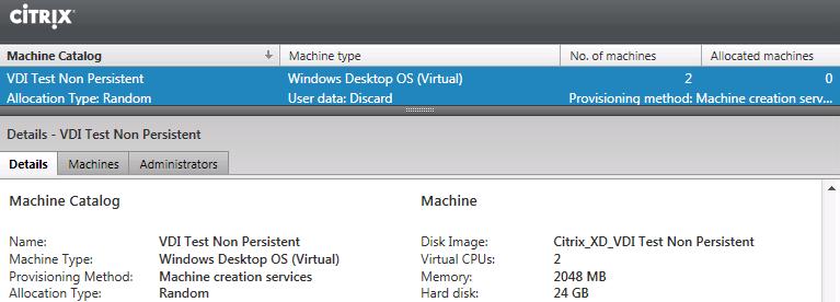 Installing Citrix XenDesktop 7, Deploying a Virtual Desktop