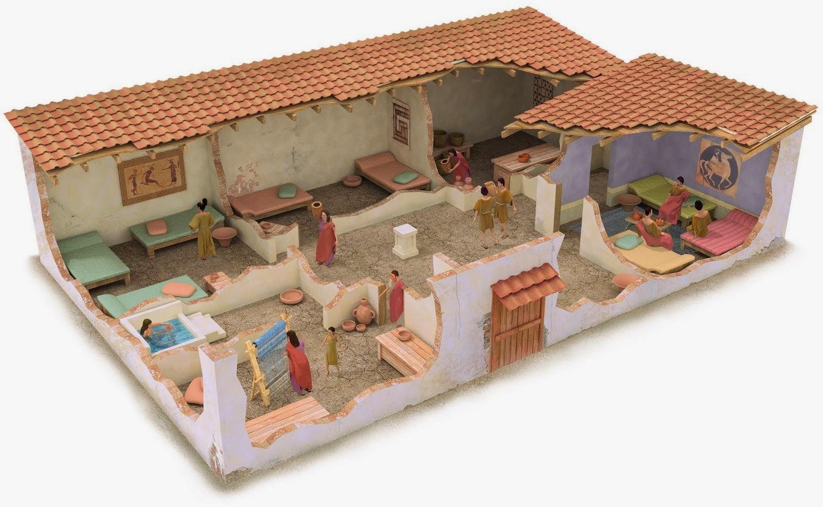 Mil recursos grecia antigua ii Como eran las casas griegas