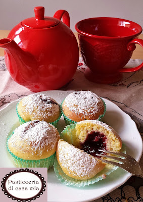 muffin ricotta yogurt marmellata ricetta pasticceria di casa mia