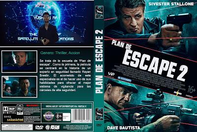 CARATULA ESCAPE PLAN 2:HADES/PLAN DE ESCAPE 2 [COVER DVD]2018
