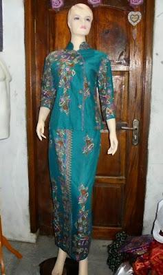 model baju batik setelan rok panjang