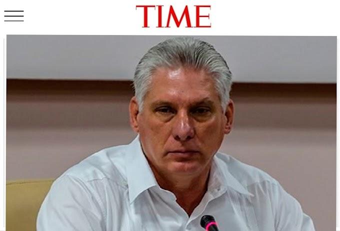 Revista Time ubica a Díaz-Canel en el primer puesto de la lista de los más singaos de 2021