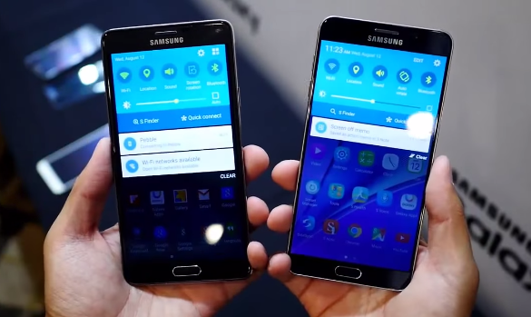Samsung Galaxy Note4 vs Note5