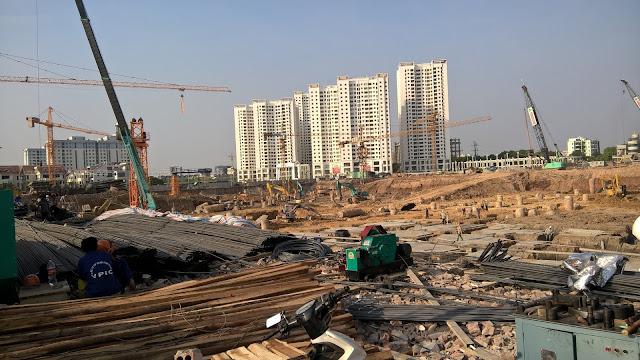 tiến độ thi công chung cư an bình city 2005