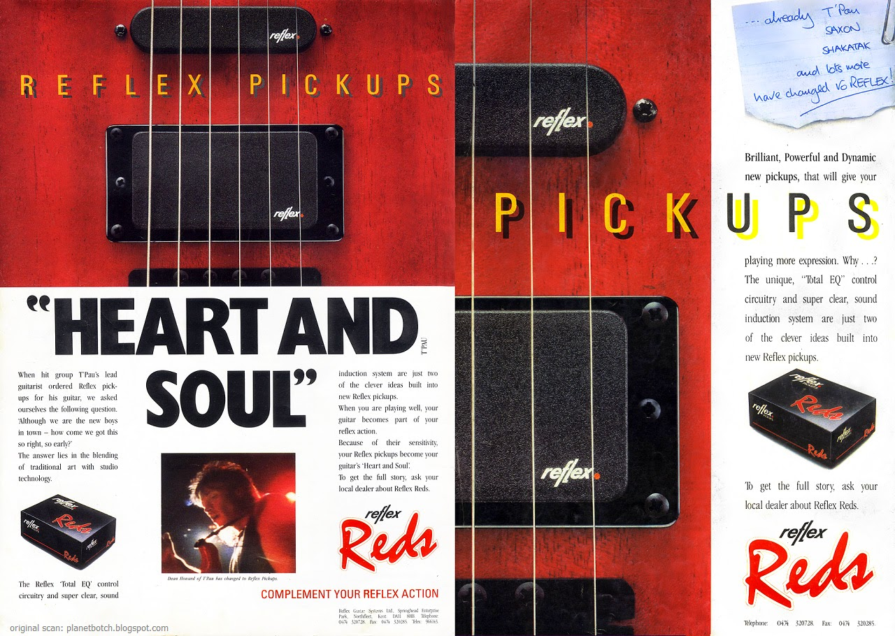 Reflex Reds Guitar Pickups In Retrospect Planet Botch