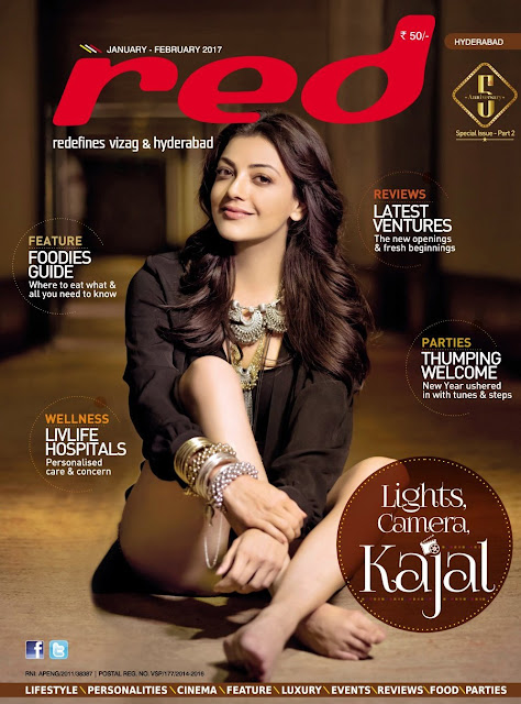 Kajal agarwal in Red magazine Photoshoot 2017