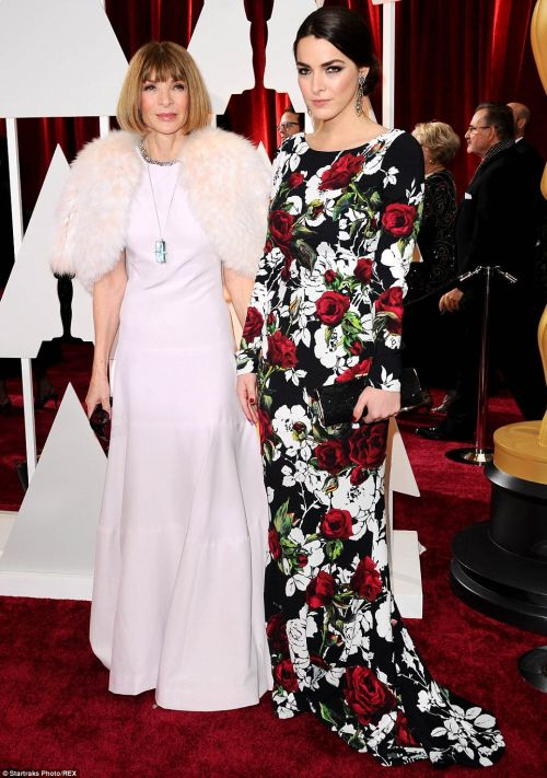 Anna Wintour was joined by her daughter Bee Shaffer at the Academy Awards 2015