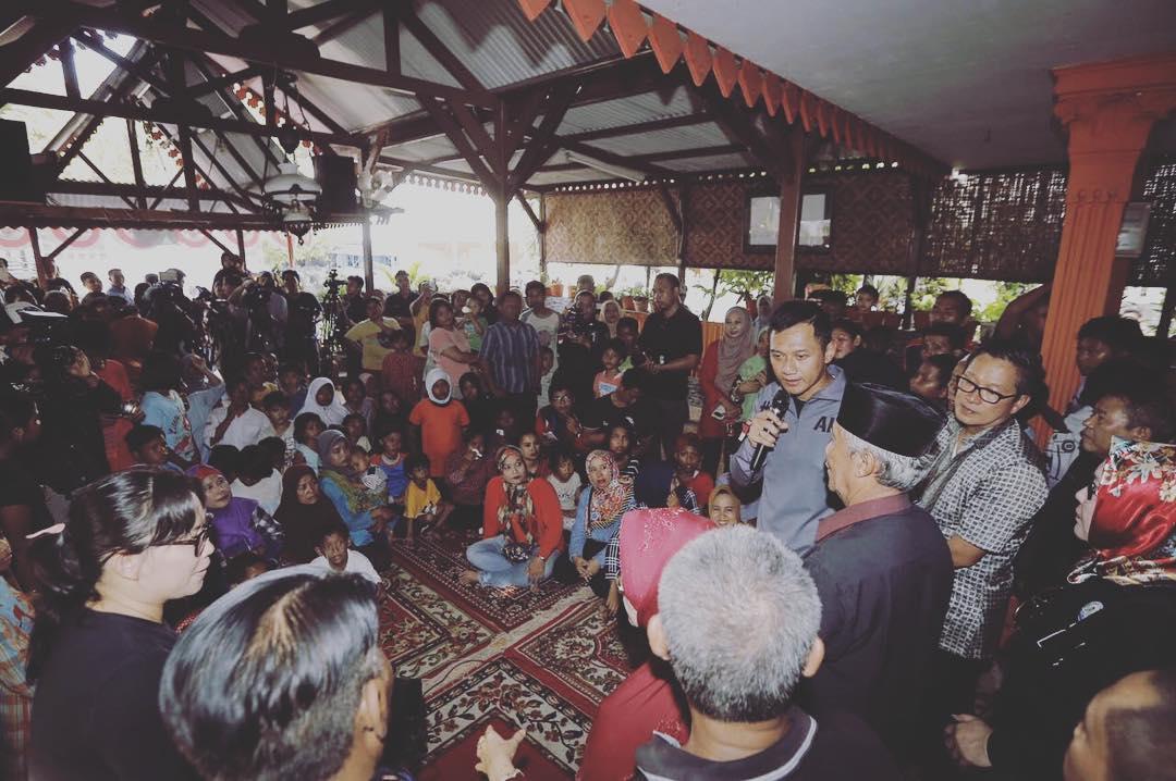 Foto-Foto AHY di Tanjung Duren Selatan dan Pasar Tomang ...