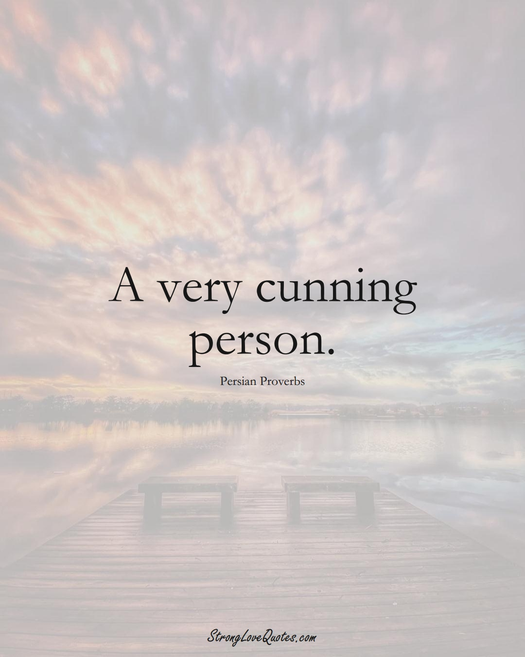 A very cunning person. (Persian Sayings);  #aVarietyofCulturesSayings