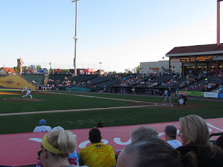 First pitch, Skeeters vs. Blue Crabs