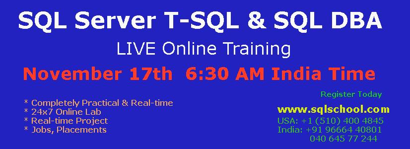 Online Certification: Sql Online Certification