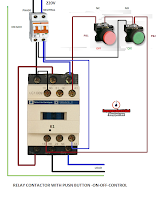 Wiring A Time Clock And Contactor Fender Pickup Diagram Electrical Diagrams: Relay With Push Button On Off Control