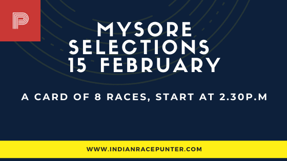 Mysore Race Selections 15 February