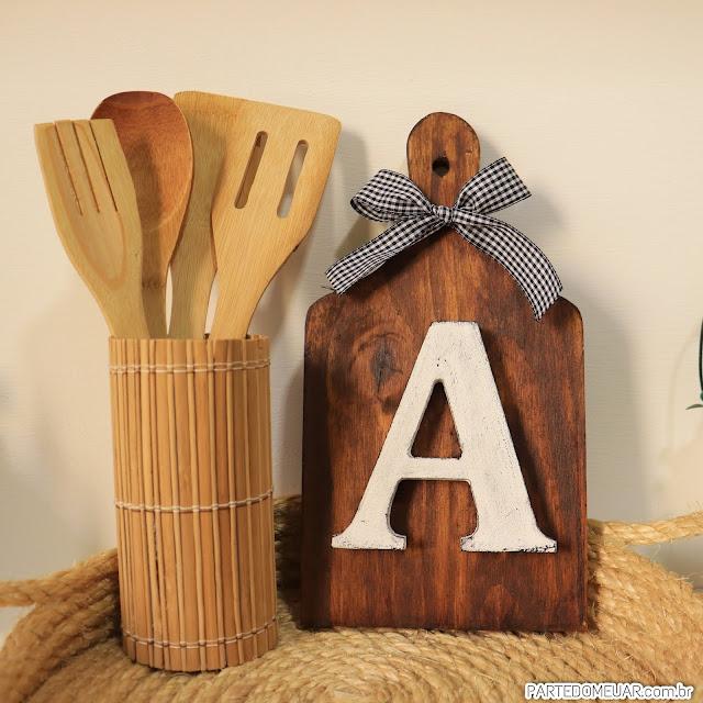Tábua de madeira rústica