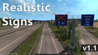 ets 2 realistic signs v1.1