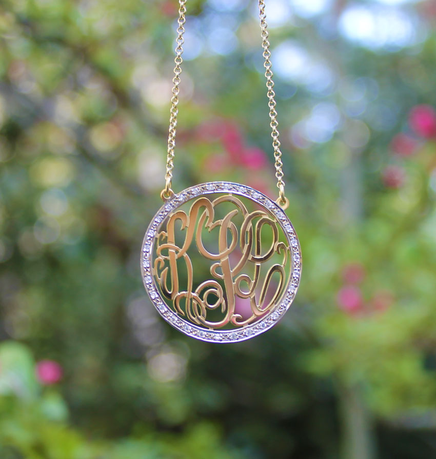 The CZ Monogram Necklace
