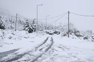 Ξεκίνησε η χιονόπτωση στο Μακροχώρι (VIDEO)