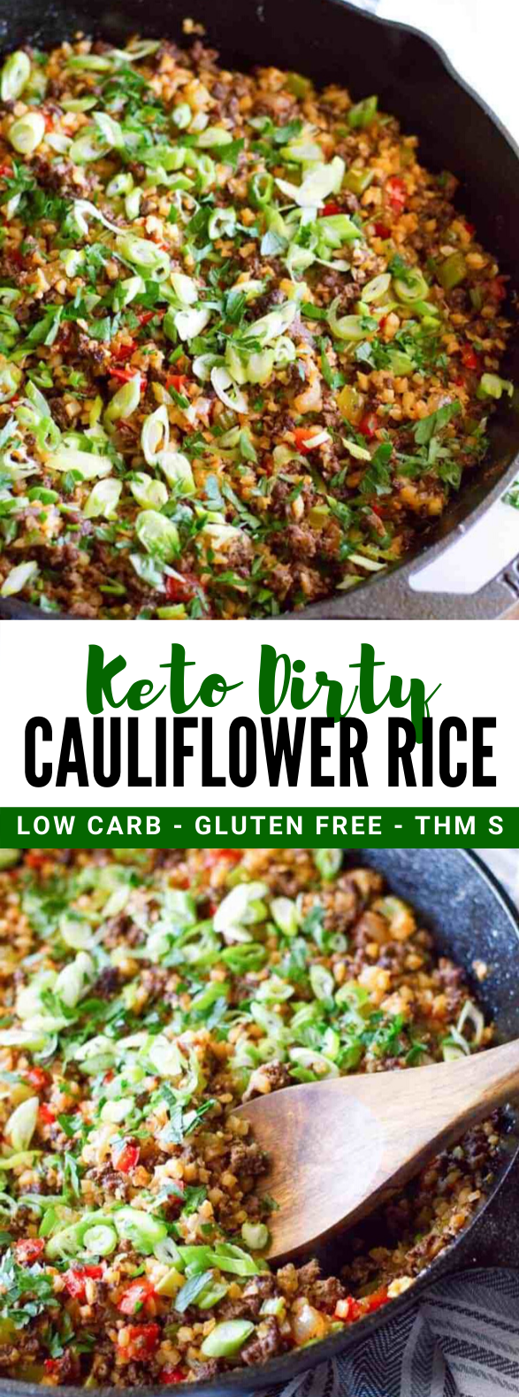 Dirty Cauliflower Rice Recipe with Ground Meat #healthy #ketodiet