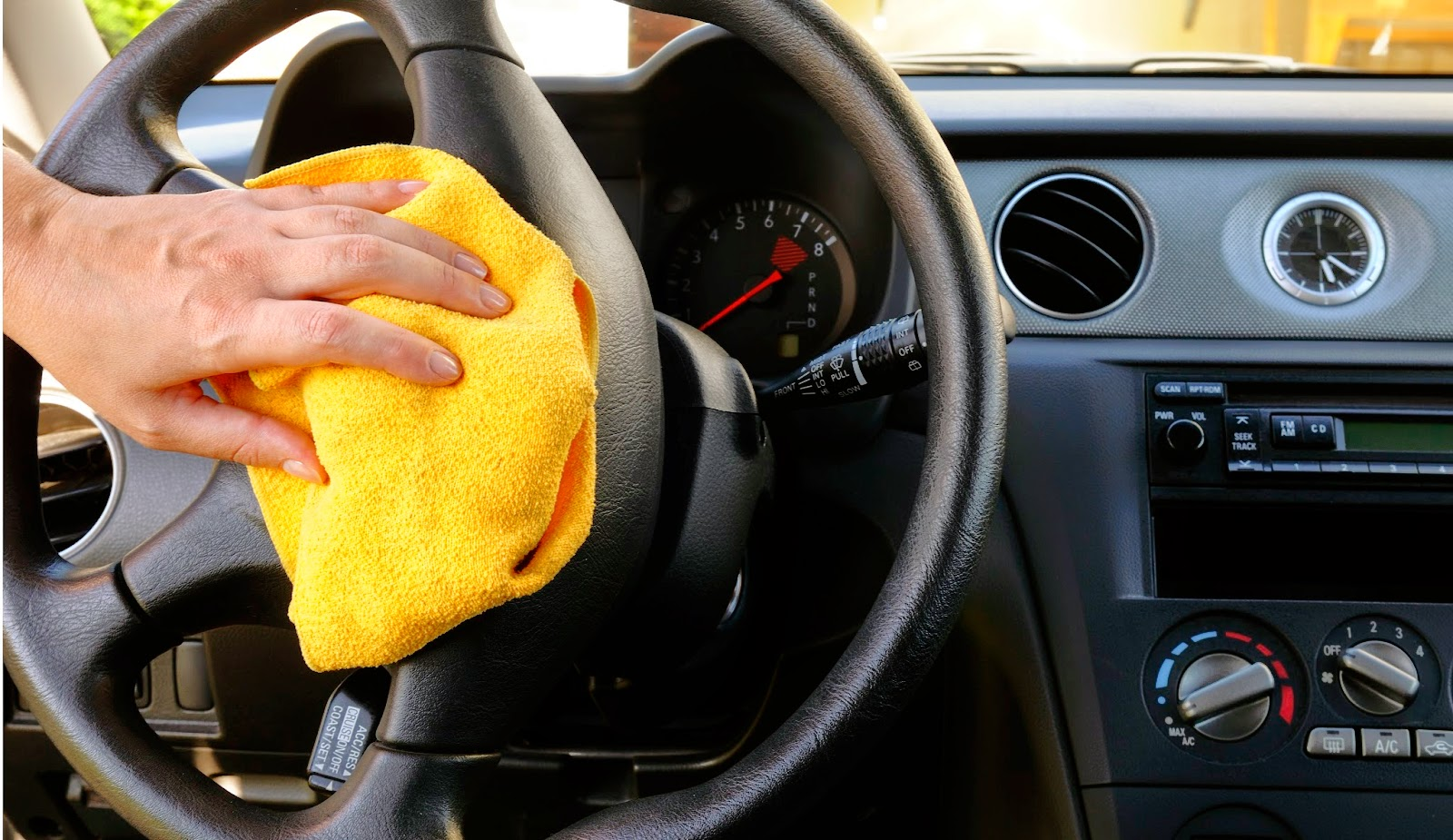 cleaning leather steering wheel