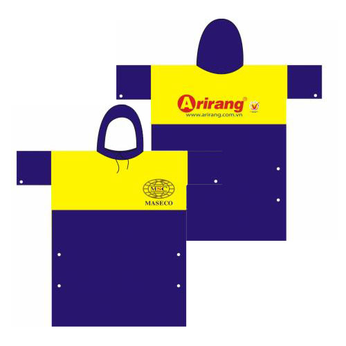 giá in logo lên áo mưa