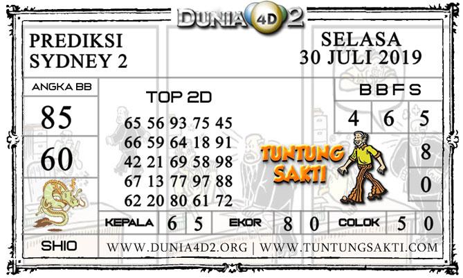 """Prediksi Togel """"SYDNEY 2"""" DUNIA4D2 30 JULI 2019"""