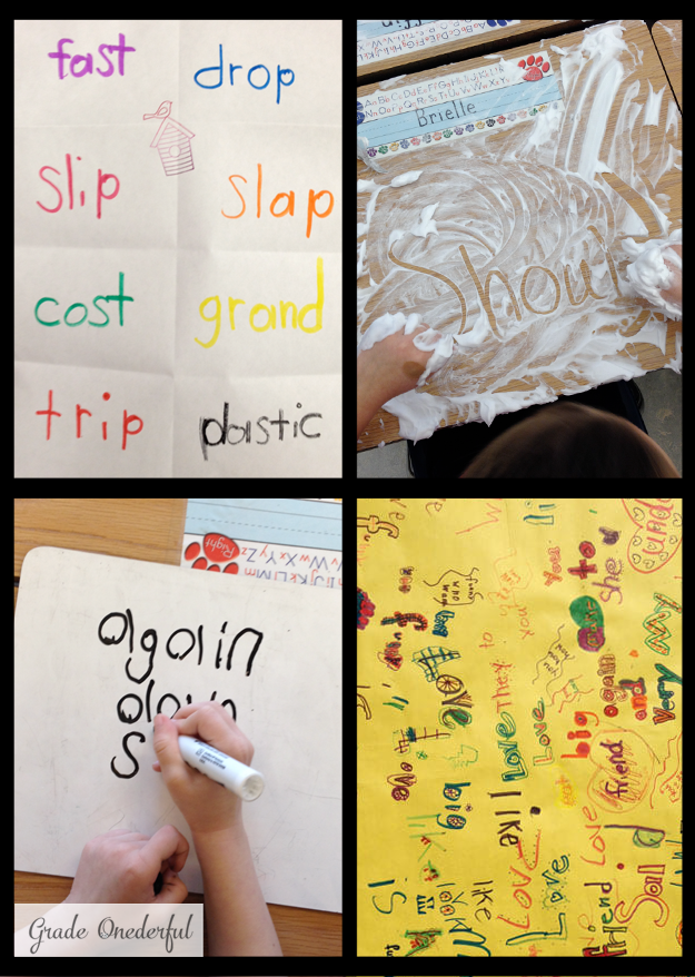 Rainbow words, shaving cream, graffiti spelling and more