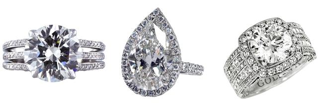 big statement diamond engagement rings