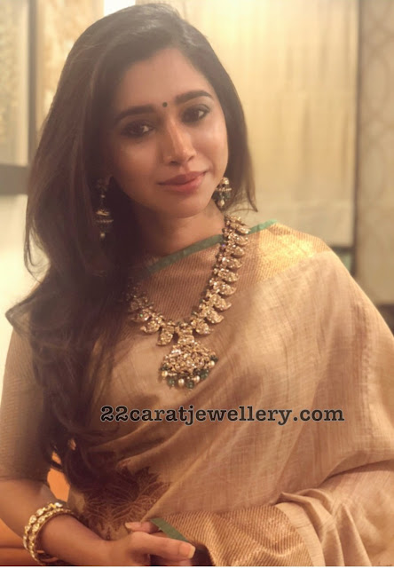 Aarthi Ravi Diamond Mango Necklace