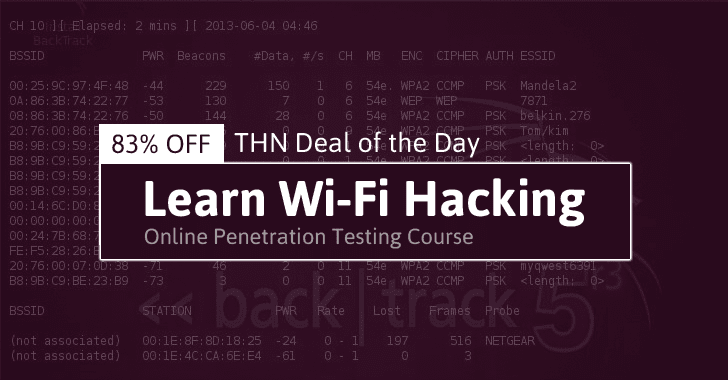 Learn Wi-Fi Hacking And Penetration Testing Online Course