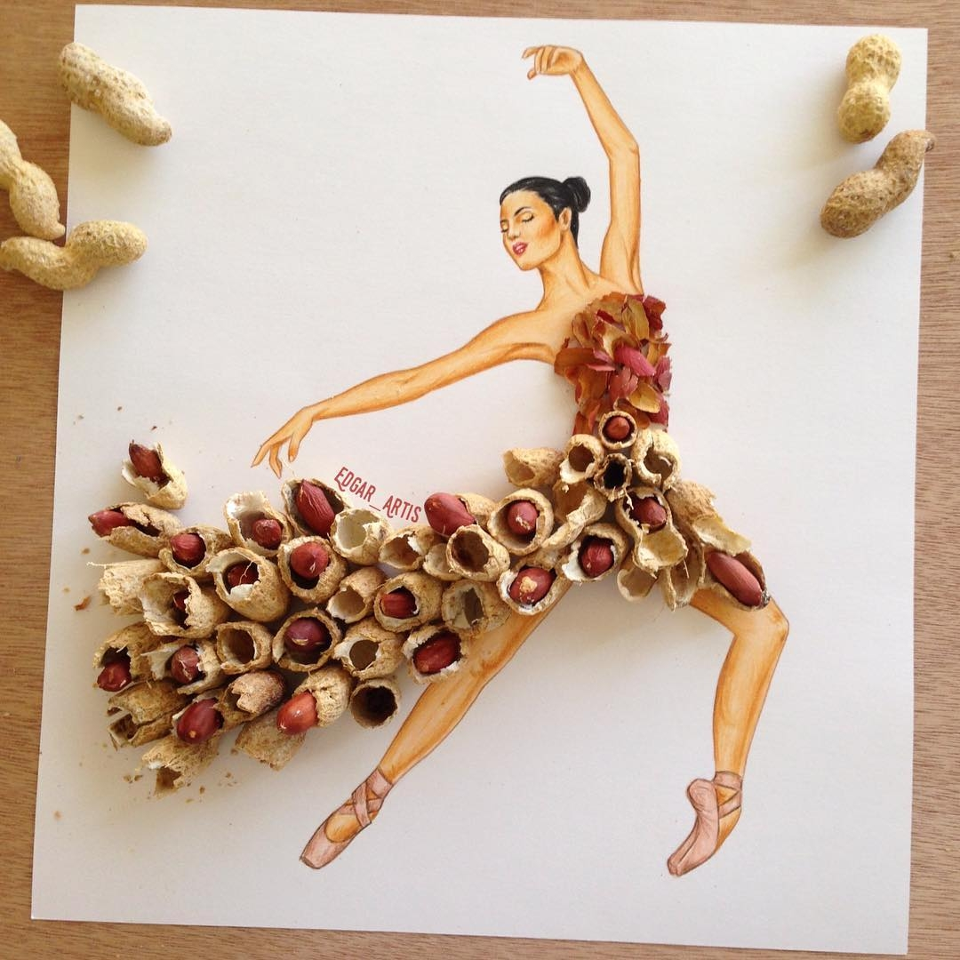 18-Peanuts-Edgar-Artis-Drawings-that-use-Flowers-Food-and-Objects-www-designstack-co
